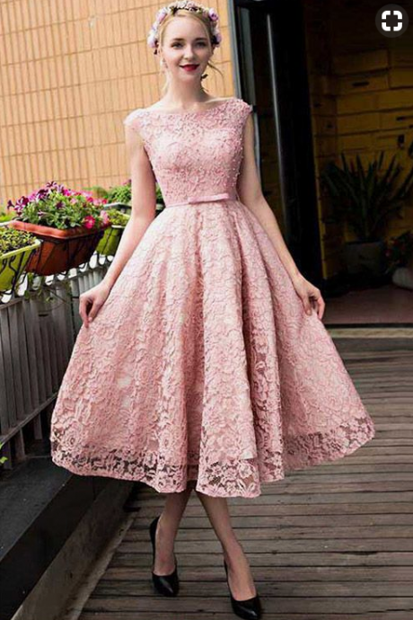 Pink Straps Lace Applique Backless Bandage Homecoming Dresses