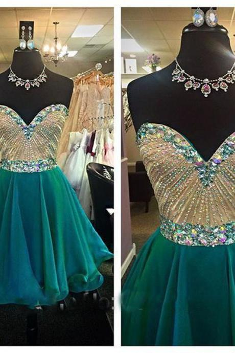 Strapless Blue Short Homecoming Dress,Tulle Chiffon,Homecoming Dresses,Dress For Homecoming