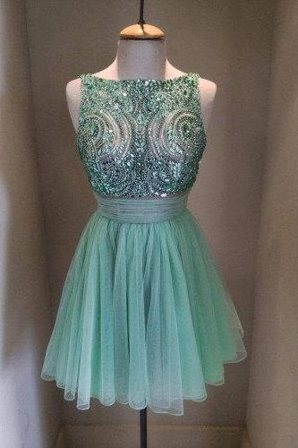 Homecoming Dresses,Beading Chiffon Cute Homecoming Dress,Dress For Homecoming