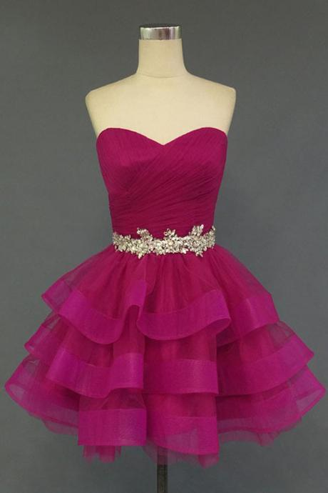 Organza Sweetheart Homecoming Dress, Short Noble Homecoming Dresses,Prom Dress