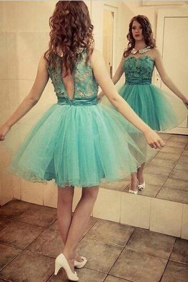 Elegant Green Applique Homecoming Dress,Dress For Homecoming.Cocktail Dress