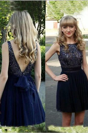 Sleeveless Backless Homecoming Dress,Little Black Prom Dress,Short Homecoming Dresses