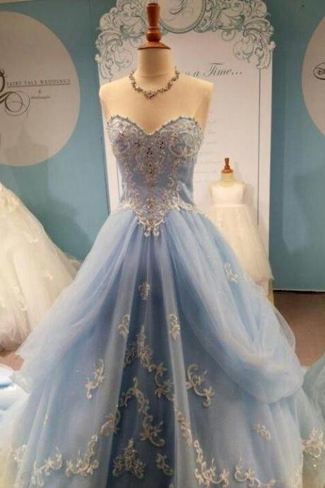 Appliques And Lace Prom Dresses,Sweet A-Line Floor-Length Prom Dress