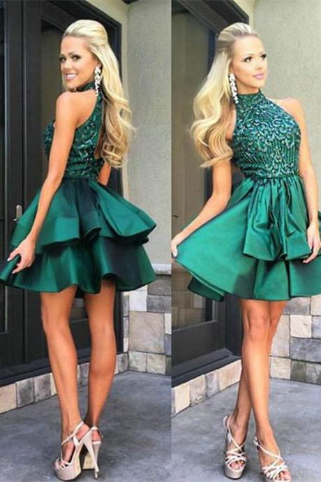 Gorgeous Homecoming Dress,Sleeveless Short Homecoming Dresses